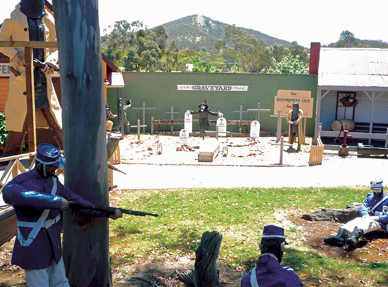 Shootout at the Graveyard – complete with historically accurate skeleton/witch/bushranger