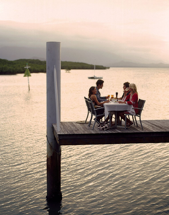 Waterside dining at dreamy Port Douglas.