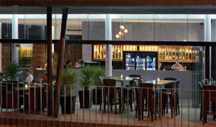 The ground floor Gazebo Bar & Restaurant at Urban Brisbane.