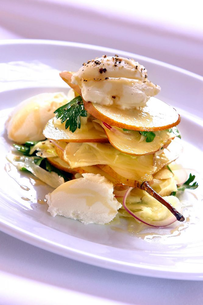 Pear and goats cheese image by Glenn Weiss