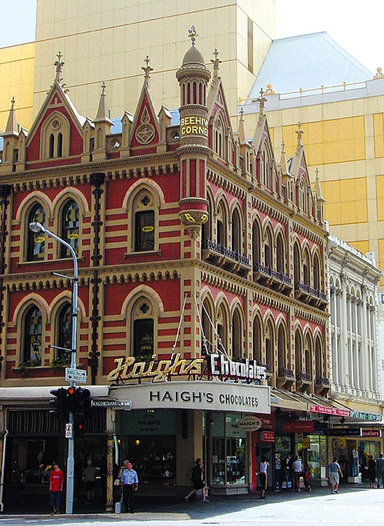 Fondly known for occupying the Beehive Building on Adelaide's Rundle Mall, Haigh's Chocolates became an instant institution in the city of churches almost from the very day Alfred E Haigh established his shop there in 1915.