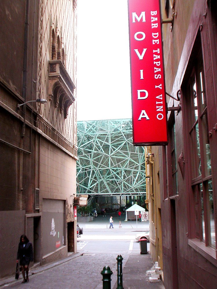 In 2003 Movida moved to its more fitting and spiritual home, tucked away in the graffiti-strewn laneways of Melbourne.
