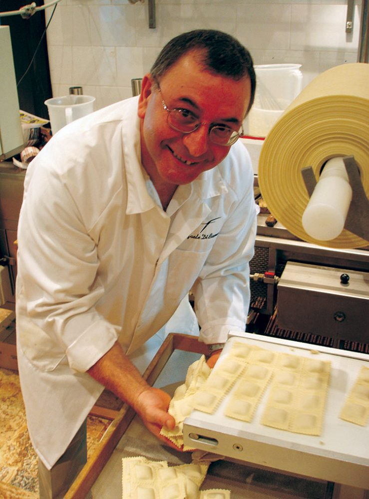 Raffaele Di Benedetto prepares common varieties of ravioli and tortellini but adds duck and crabmeat stuffing for something a bit different.