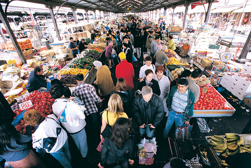 lways go to Melbourne's Queen Victoria Market hungry. It's an unbelievable place to simply wander and taste test.