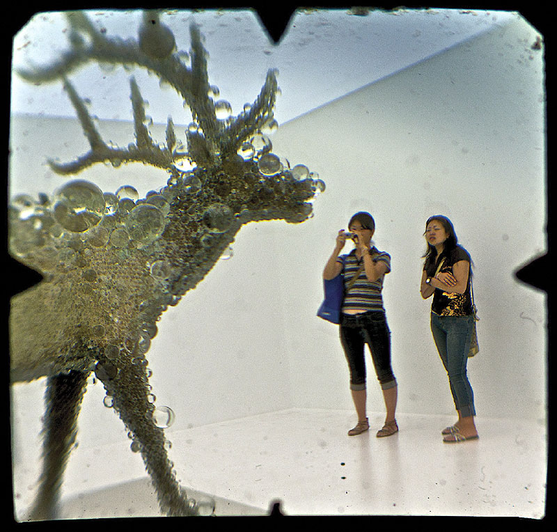 "PixCell Elk#2 by Kohei Nawa is ""totally awesome""."