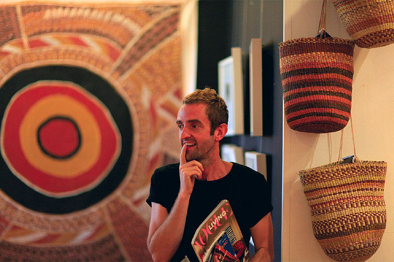 Dion Teasdale, enthusiastic Art Managaer on Elcho Island.