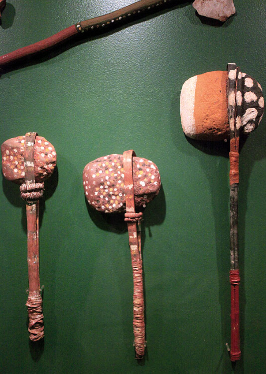 Ceremonial axes from Djómi Museum in Maningrida.