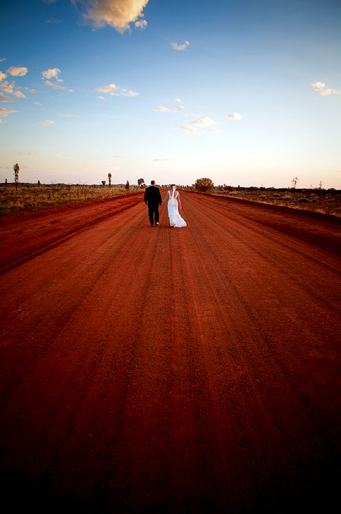 A Long Road Ahead Of Them was shot by Joyce van Dijk at Ayers Rock Resort near Uluru.