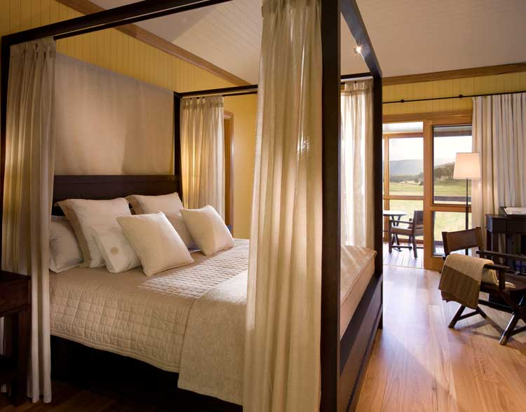 Australia's greatest sleeping experience - the Bedroom of one of the villas at Wolgan Valley Resort & Spa