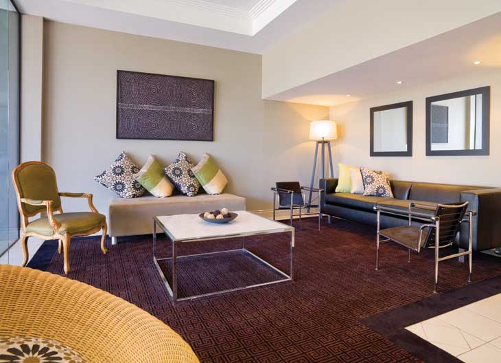 A spacious Adina Suite; affordable, in the heart of the CBD