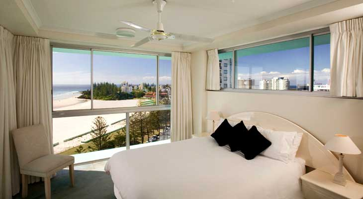 A bedroom at Ocean Plaza