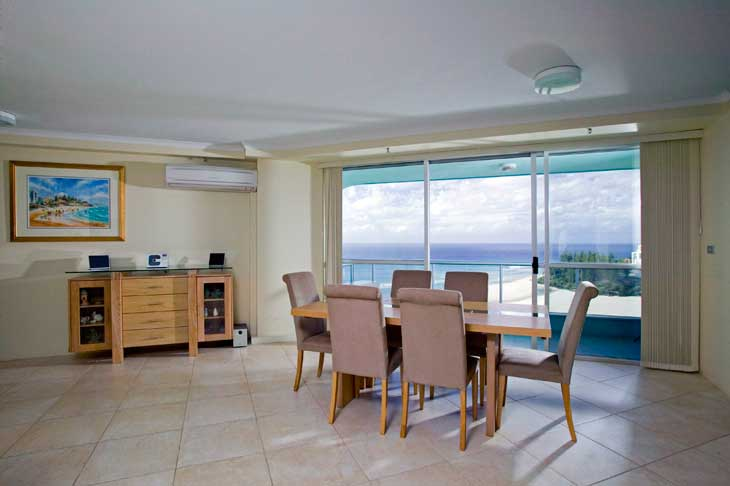 The Ocean Plaza Coolangatta living room