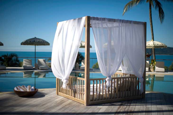 The day bed at Mission Beach's Elandra Resort