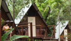 The affordable bungalows at the Magnetic Island YHA Koala Bungalow Bay