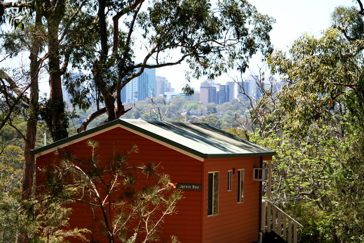 Lane Cove national Park cabins, right in the heart of the city