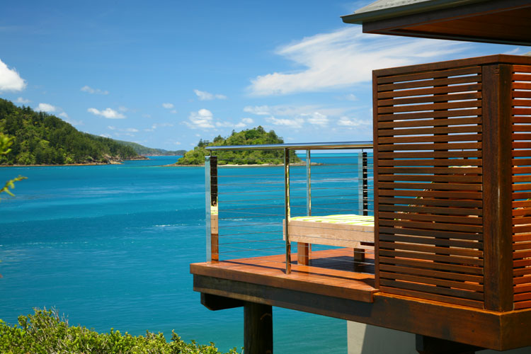 The view from a pavillion at qualia on Hamilton Island