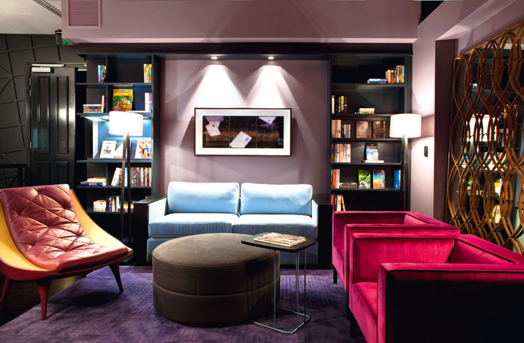 Spicers Balfour is an example of the new designed interiors of vibrant and plush colours and textrues.