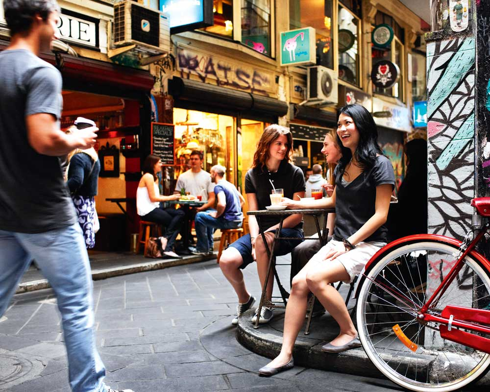 Melbourne's laneways are especially fun in summer