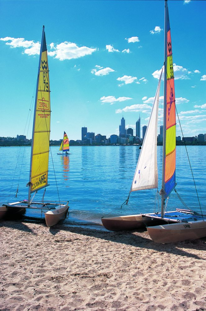 Catamarans on Perth foreshore