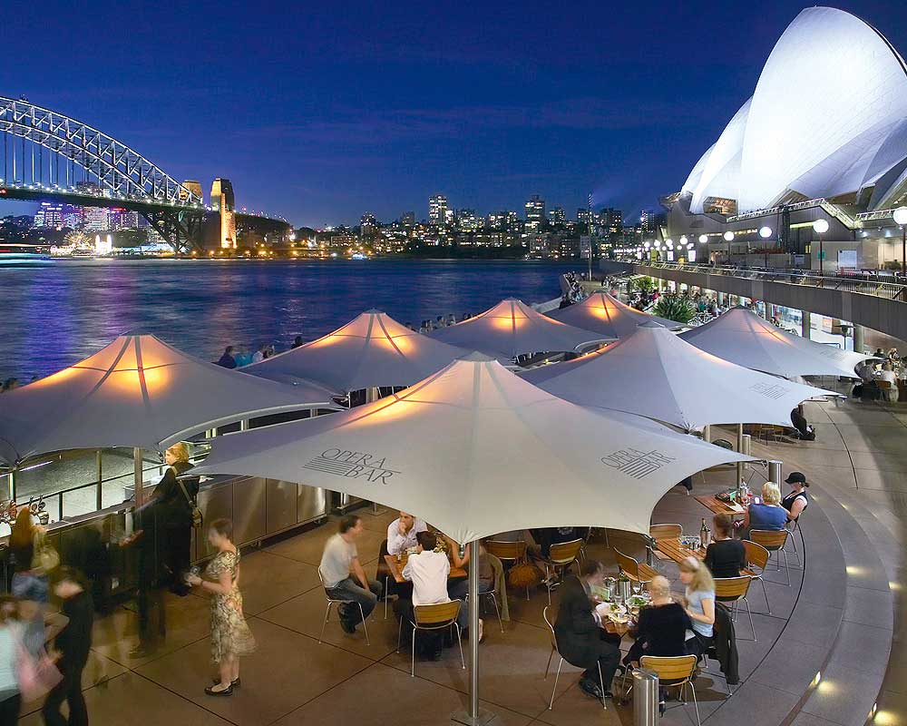 Opera Bar's awesome view of the Harbour Bridge