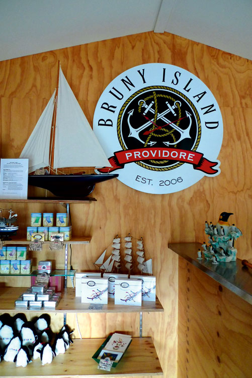 Fudge heaven at Bruny Island Providore. The Jetty Café at Dennes Point.