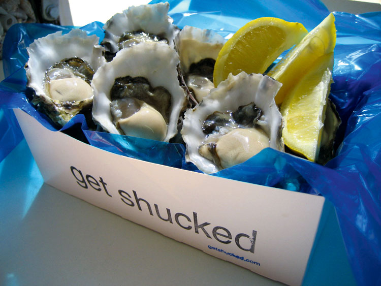 Fresh oysters from the Get Shucked van