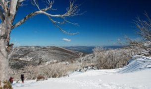 Magnificent views over Kosciuszko National Park