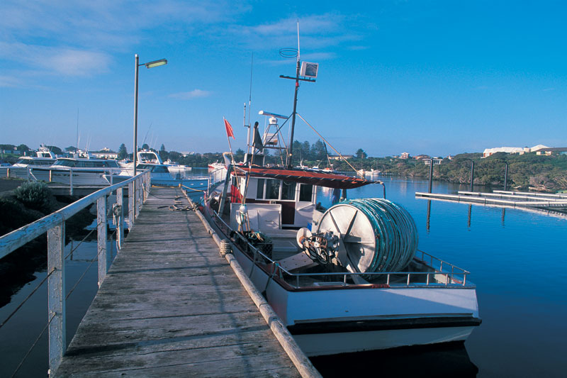 The wharf at Robe. Image by Richard Lindstrom