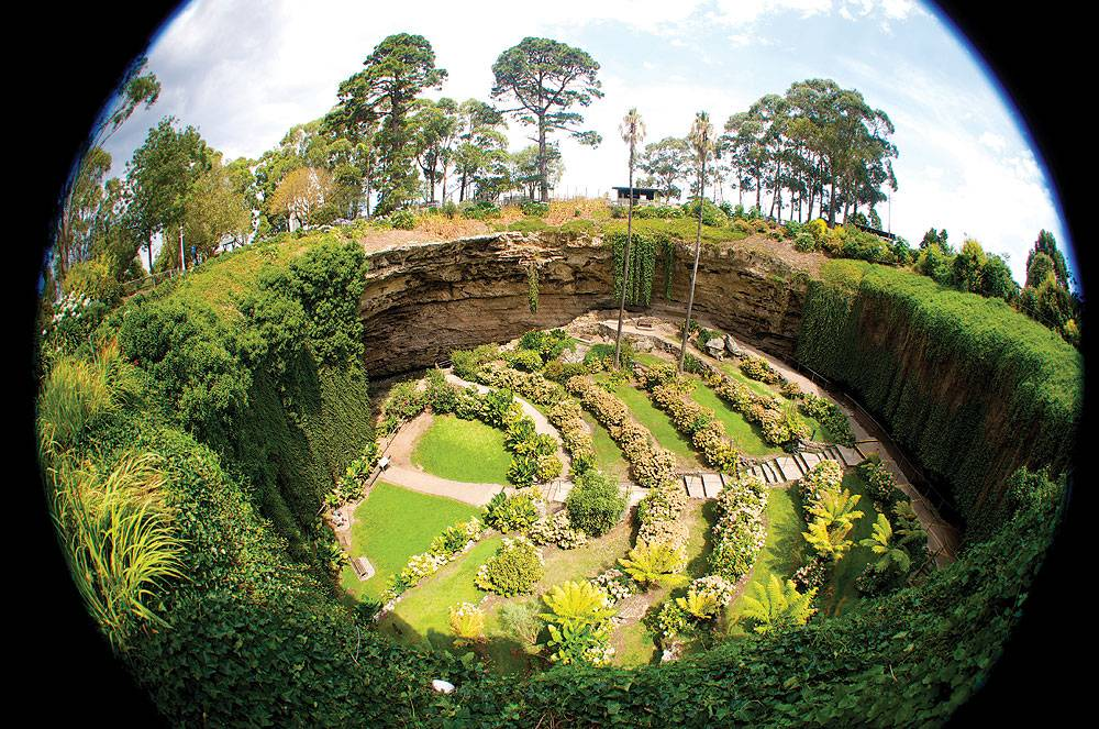 Mount Gambier is a playground of natural formations. Image by Dirk Spenneman.