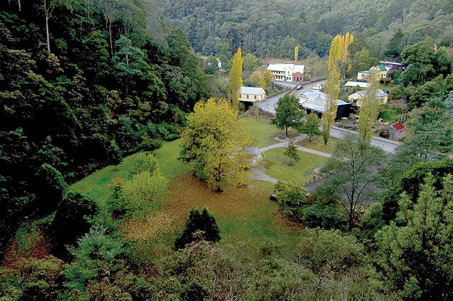 Walhalla - pretty little gold rush town. Image by Tourism Vic