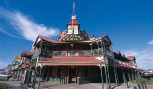 The Exchange Hotel -- one of dozens of historic pubs in the gold rush capital of Kalgoorlie. Image by Tourism WA