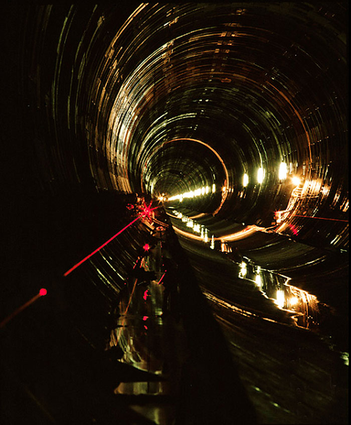 Construction of the Werribe Sewer Tunnel. Image by Boris Hlavica
