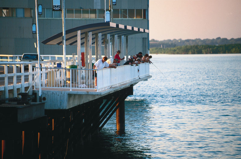 Stokes Hill Wharf. Image by Tourism NT