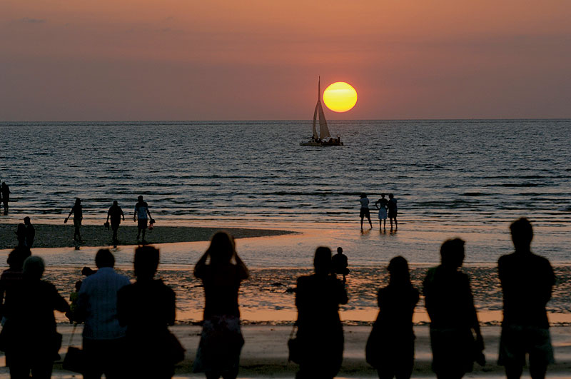 Sunset from Mindil Markets. Image by Tourism NT