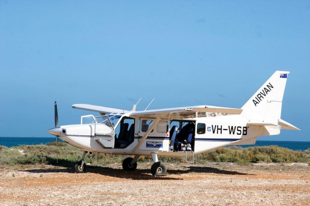 Light aircraft to tour the Abrolhos Islands