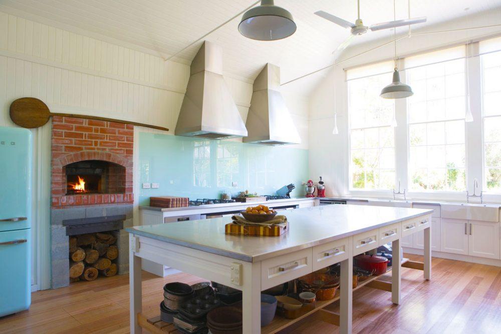 Inside the Agrarian Kitchen, Lachlan, Tasmania.