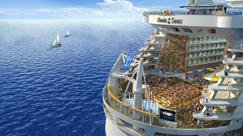 Oasis of the Seas will also hold the first ever full amphitheatre at sea.