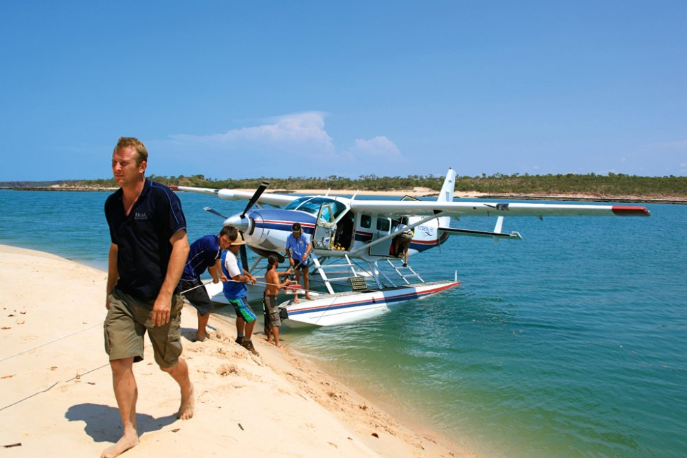 Float Plane Arriving to the Island