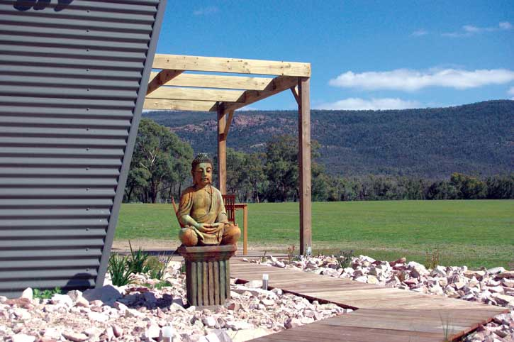 What every villa needs -your own Buddha at Blaze Rock