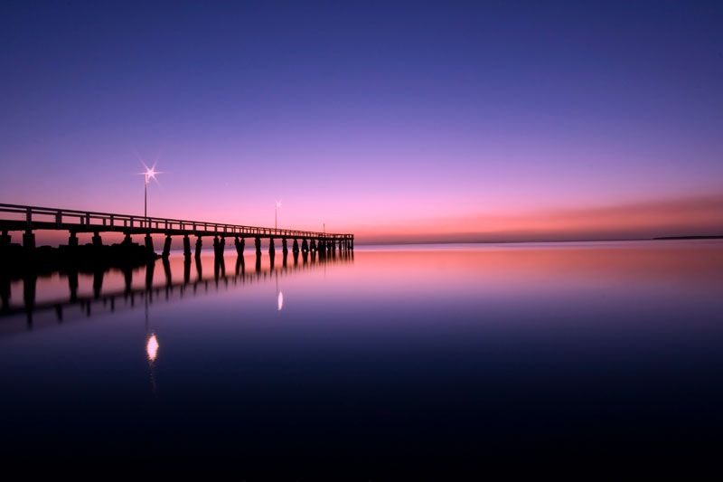 This shot was taken at Wellington point south of Brisbane - the pier empties on to Morten bay and you have an awesome view of the sun rising over the islands most mornings. By Nathan & Julie Duff