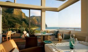 The stunning views from the Capella Lodge restaurant.