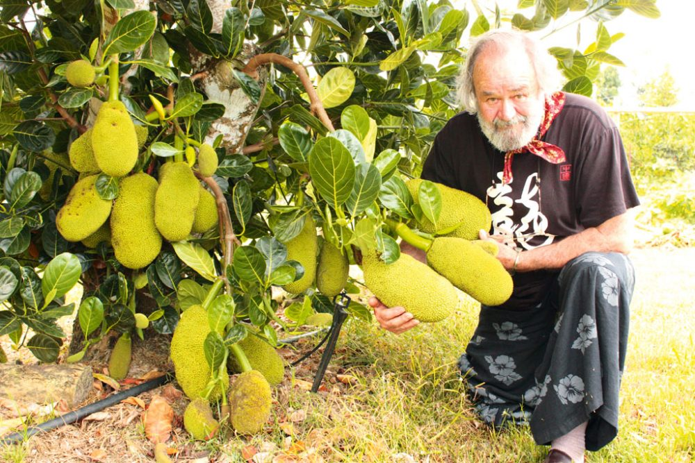 Peter Russell-Clarke with Jackfruit
