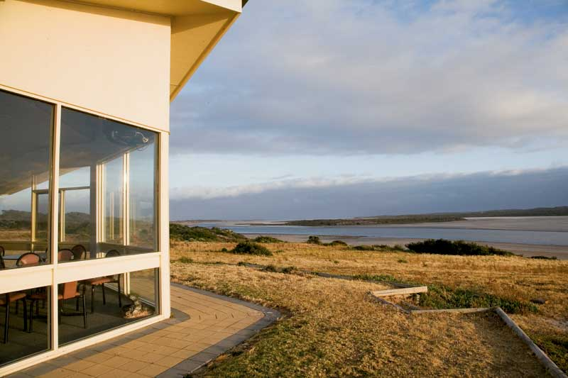 The view from the Coorong Wilderness Lodge highlights the remoteness of the region.