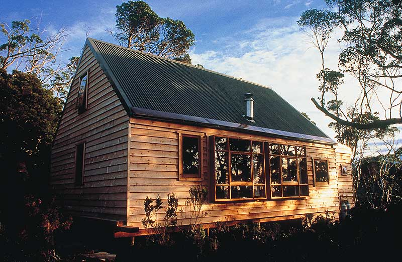 The exterior of Cradle Mountain Huts.