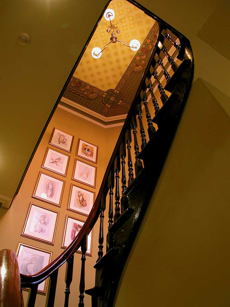 Hotel Review -- Craig's Royal Hotel. Interior shot of staircase.