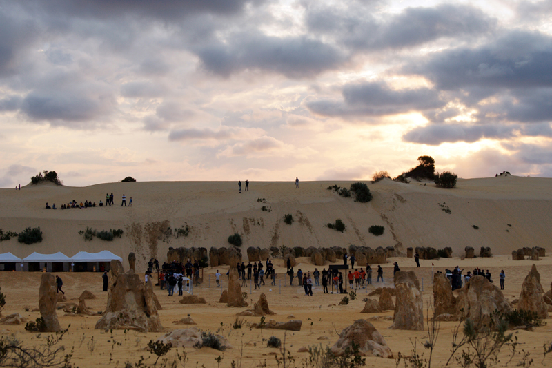 Sony Twilight Football Action in the Pinnacle Desert, September 22, 2009