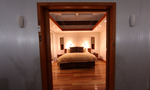 The bedroom of the Eco Villas have a sunlight to peer at the stars at night, shoudl it be called a moonlight?