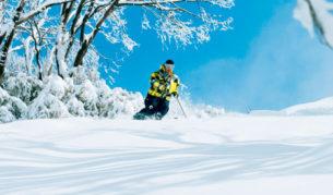 Skiing and snowboarding at Falls Creek Victoria
