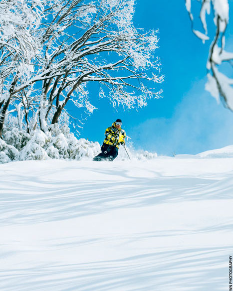 Skiing and snowboarding at Falls Creek Victoria