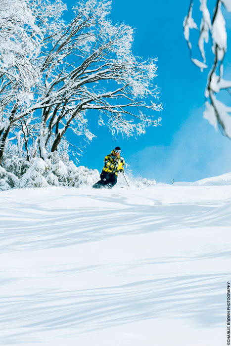 A good season? Powering through the Falls Creek powder.